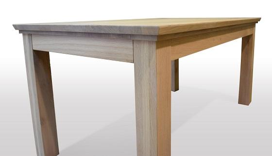 hier die Funktion eines Tisches aus Eichenholz, Kopfkulissenauszug mit ...