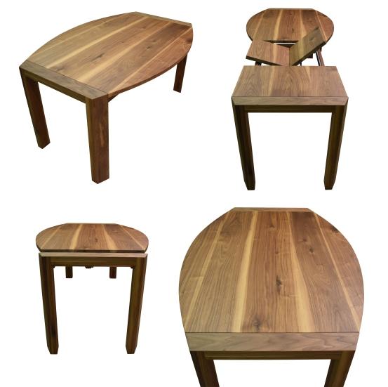 Esstisch massivholz oval verschiedene for Esstisch nuss