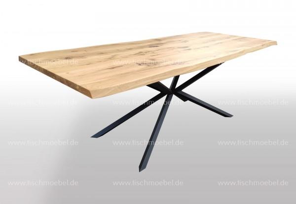 Baumkantentisch auf Spider II Metallgestell