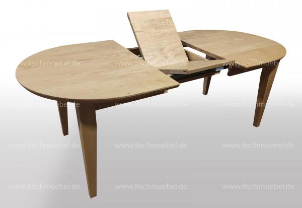 ovaler Esstisch 150 x 110 ausziehbar Kirsche europäisch