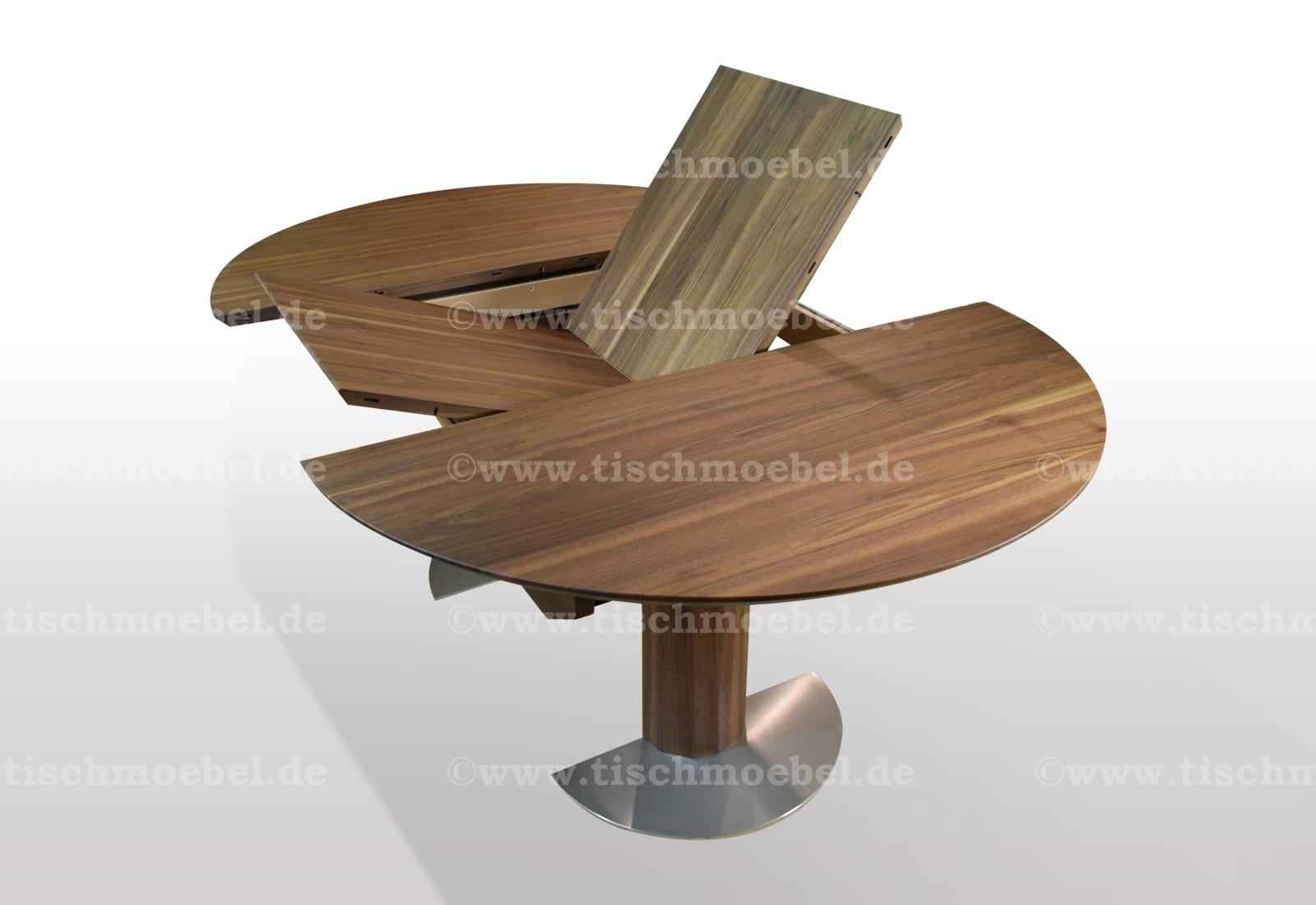 runder Tisch ausziehbar Kiefer massiv - 33cm Durchmesser