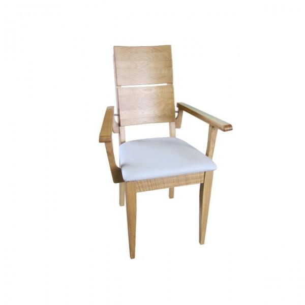Armlehnen Stuhl Eiche massiv gepolstert