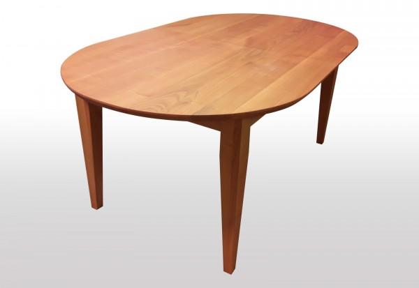 ovaler Esstisch Kirschbaum 150x110cm amerikanisch ausziehbar massiv