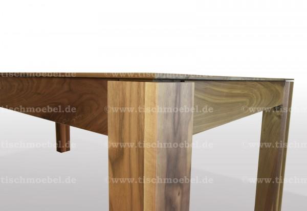 Holztisch Nussbaum massiv  ausziehbar 200 x 100 cm