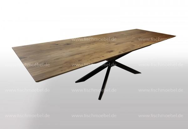 Tisch Nussbaum amerikanisch massiv auf Spider Gestell - ausziehbar 180x90