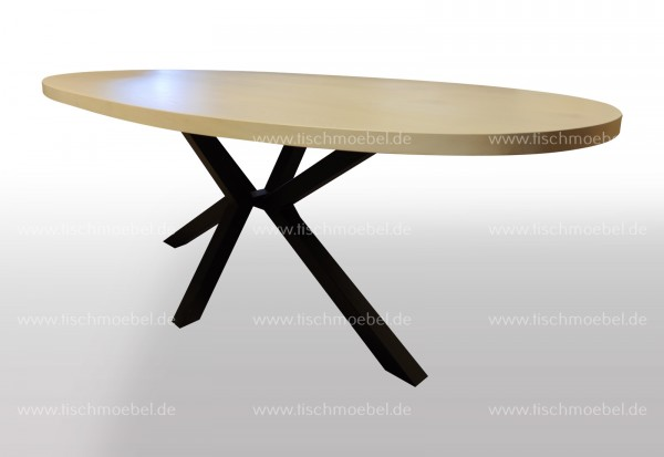 Tisch ellipsenform eiche