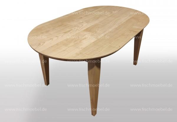Tisch nach Maß oval Kirschbaum europäisch 160x90