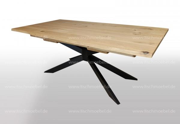 Esszimmertisch mit Baumkante auf Spider Untergestell 170x100cm