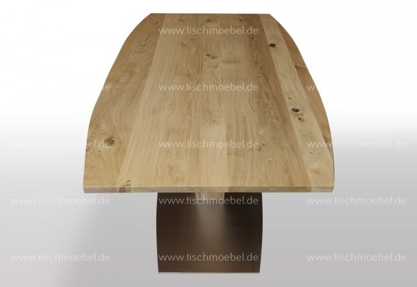 Esstisch in bootsform Wildeiche ausziehbar 170x90 cm