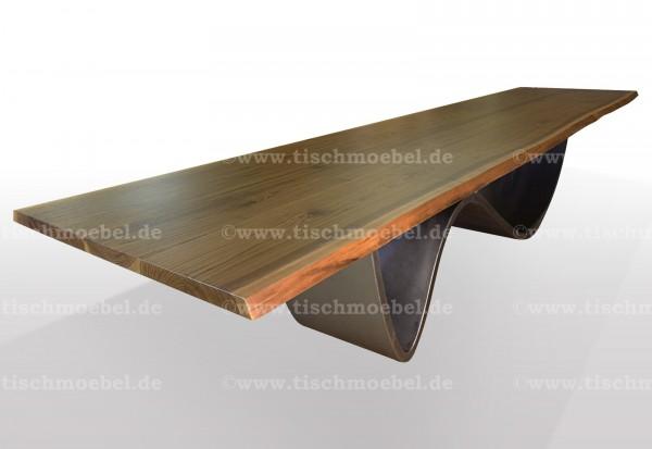 baumkantentisch-nussbaum-wave-untergestell-edelstahl