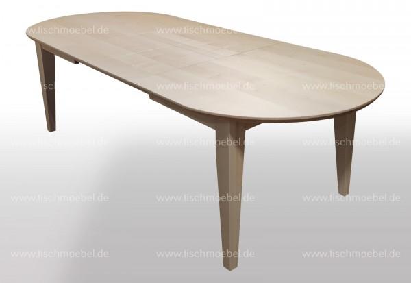 Esszimmertisch Ahorn oval 170x110 ausziehbar