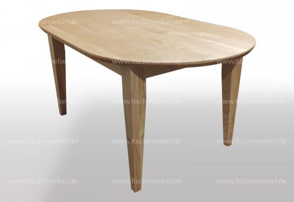 Küchentisch oval 180 x 90 cm Kirschbaum europäisch