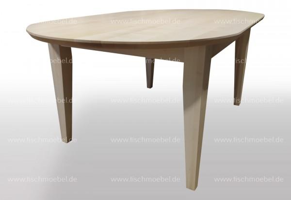 Holztisch nach Maß Ahorn oval 150x100cm