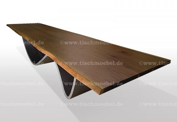 baumkanten-tisch-nussbaum-wave-untergestell-blankstahl 170x100cm
