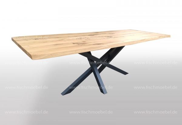 Baumkantentisch auf Mikado II Metallgestell