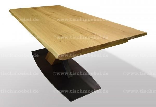 tisch mit naturkante asteiche massiv ausziehbar