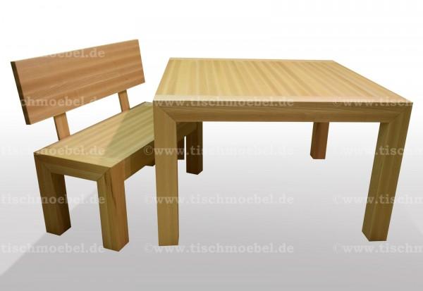 tisch mit Sitzbank Esche massiv ausziehbar