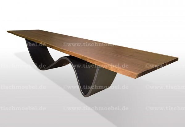 tisch-mit-baumkante-nussbaum-wave-untergestell-blankstahl 210x80cm