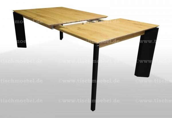 Esstisch Wildeiche filigranes design 140x110cm ausziehbar um 60cm