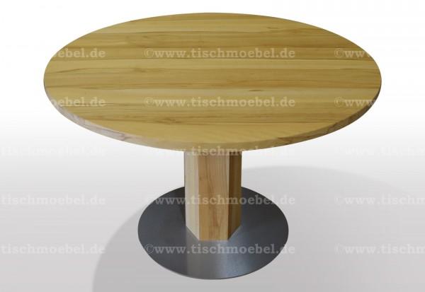 Esstisch rund Kernbuche massiv 120cm Durchmesser