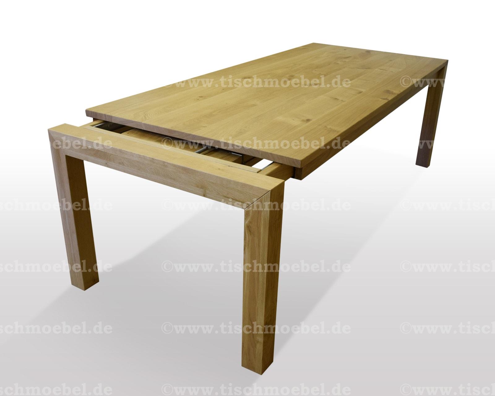Tisch Eiche massiv - Breite 37cm / Länge wählbar