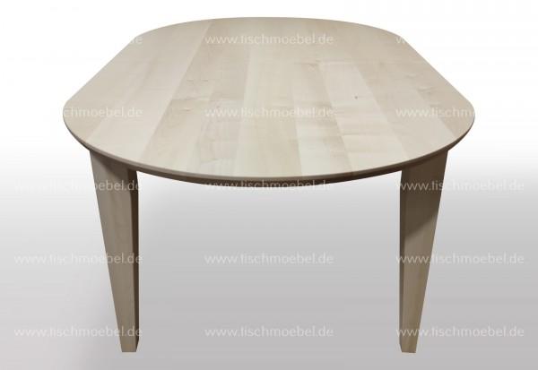 Tisch Ahorn oval 160x90cm