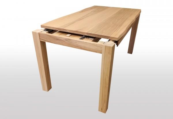 tisch mit naturkante kernbuche ausziehbar massiv