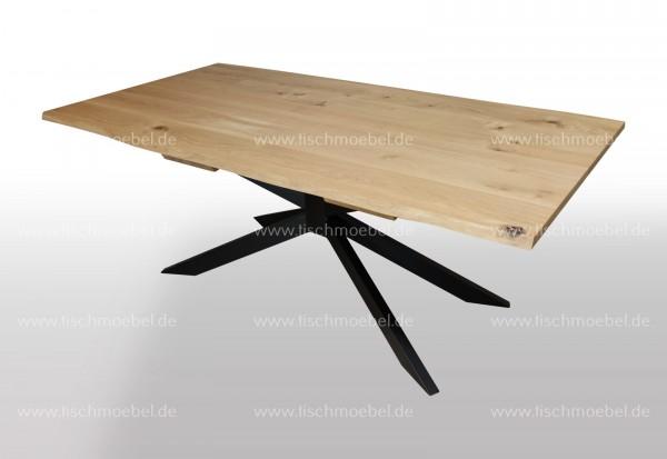 Baumtisch auf Spider Untergestell 130x100cm