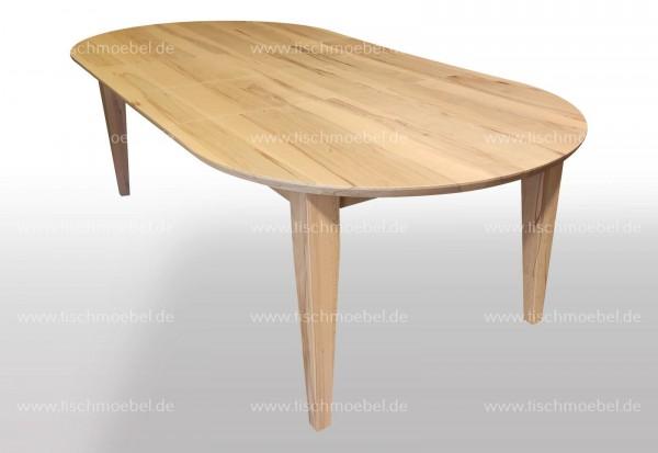 ovaler Esstisch massiv 160x110cm ausziehbar