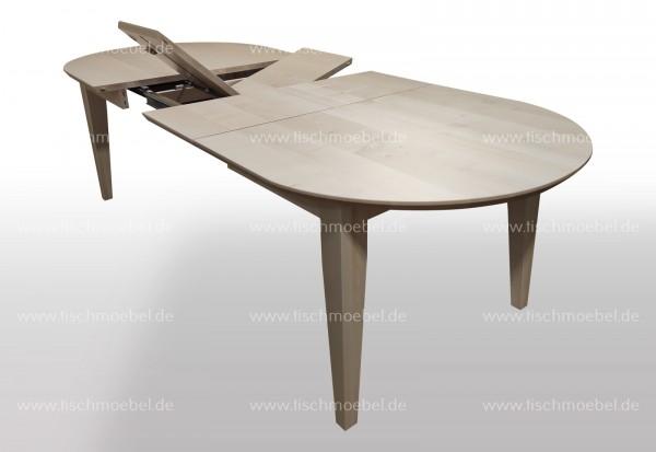 Esstisch Ahorn oval 160x110cm
