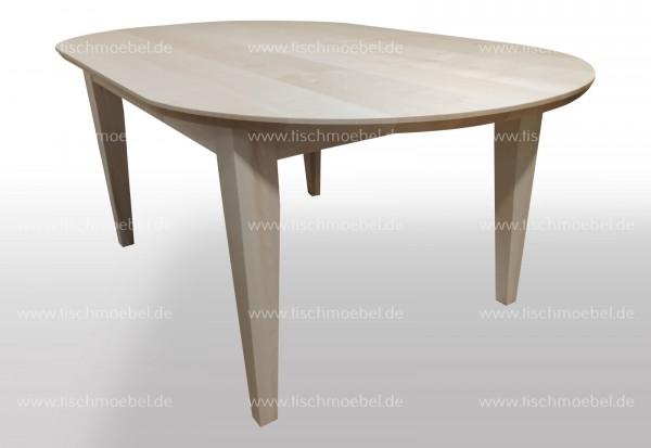 Tisch nach Maß Ahorn oval 170x90 cm