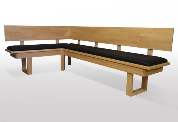 Sitzbank Buche massiv - Länge wählbar
