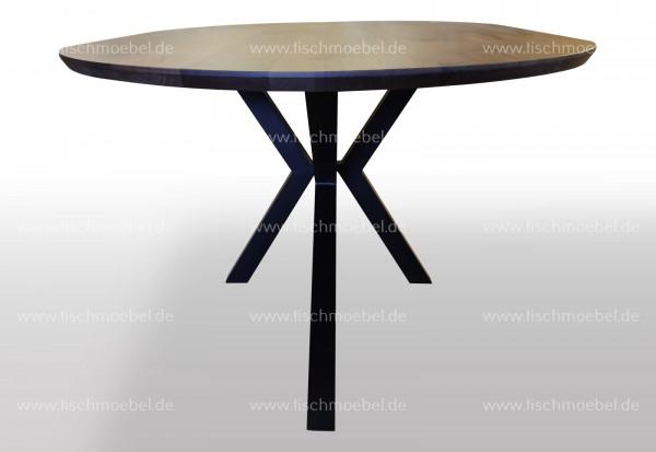 Ovaler Esszimmertisch Nussbaum Spider Tischgestell 260x110cm