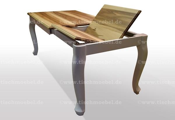 Tisch-satin-Nussbaum-ausziehbar-massiv