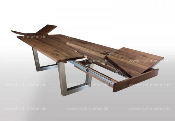 Esstisch Nussbaum amerikanisch ausziehbar 200x100cm um 2x50cm