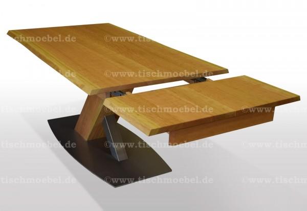 tisch mit naturkante kirschbaum