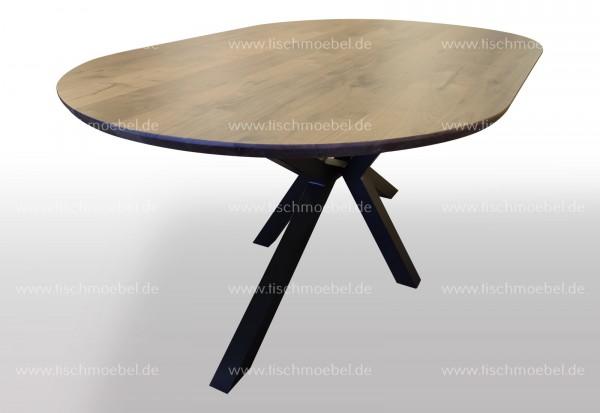 220x90cm Massivholz Nussbaum Tisch auf Spider Tischgestell