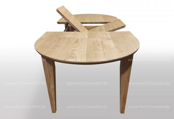 Holztisch oval 170 x 80 ausziehbar Kirsche europäisch