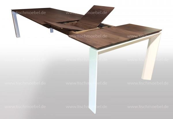 Esstisch aus Nussbaum 240 x 120 cm ausziehbar cube ...