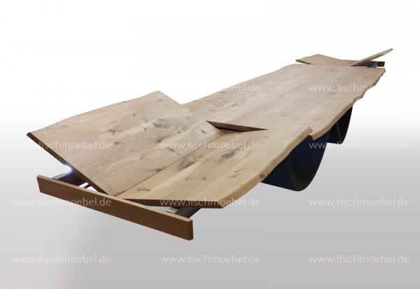 Esszimmertisch Wave Tischgestell ausziehbar Eiche 200x110cm