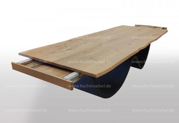 Esstisch Wave Tischgestell ausziehbar Wildeiche massiv 200x90cm