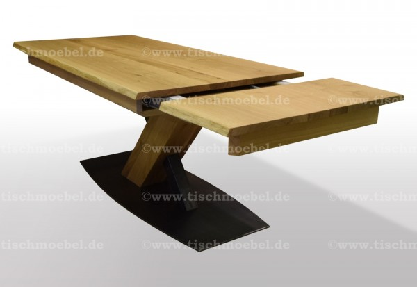 Baumkantentisch Breite 100cm Eiche auszehbar | Tischmoebel