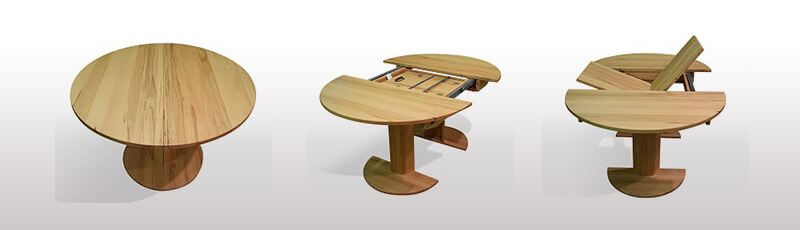 Runder Tisch Massiv Mit Auszug Auf Maß Tischmoebelde