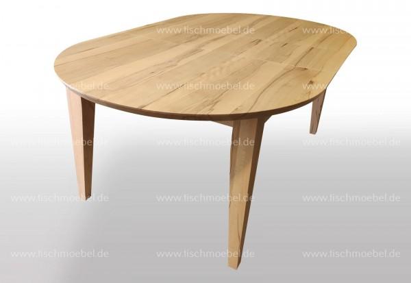 küchentisch oval ausziehbar kernbuche 160x90x76cm