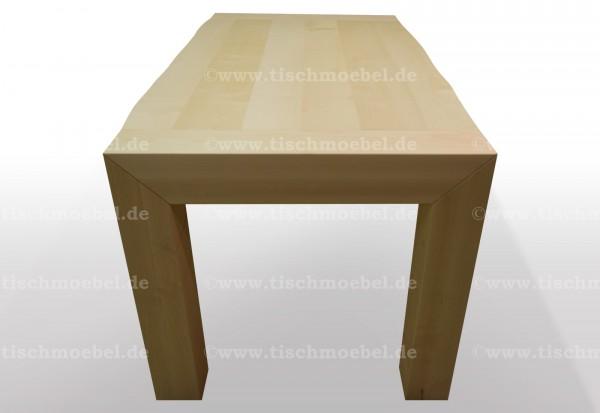 tisch mit baumkante ahorn massiv ausziehbar cube