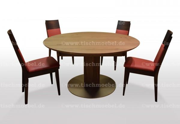 tisch rund ausziehbar mit Stuehlen