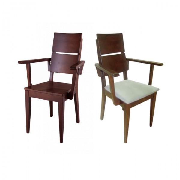 Armlehnen Stuhl Buche/ Kernbuche gepolstert