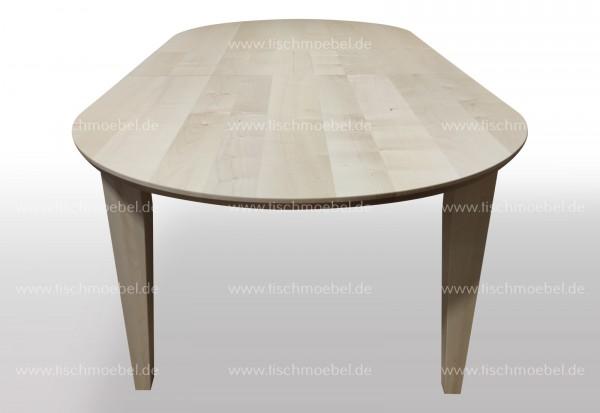 Esszimmertisch nach Maß Ahorn oval 150x110cm