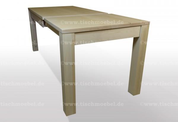 Tisch Ahorn massiv Beine unter der Tischpatte ausziehbar